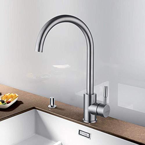LONHEO 360°Drehbarer Niederdruck Wasserhahn für Küche Edelstahl Einhandmischer Küchenarmatur Waschbeckenarmatur Spültischarmatur Armatur Mischbatterie für Küche (Niederdruck armatur)