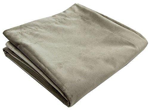 McAlister Textiles Matter Samt | Überwurf 265cm x 380cm in Beige | Decke für Sofa, Bett, Sessel in luxuriösem Designer Plüsch