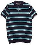 Springfield 9Ds Polo M/C Rayas Gg14 Jersey, Azul (Gama Azules 11), Small (Tamaño del Fabricante:S) para Hombre