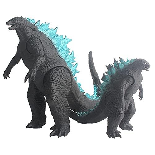 2 pièces Anime Godzilla Figure Roi des Monstres 15/25Cm Poupée Figurines PVC Jouets À Collectionner Modèle Fury Monstre Dinosaure Statue Jouet Enfant Cadeaux