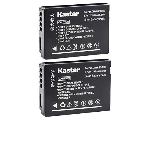 Kastar Battery (2-Pack) for Panasonic DMW-BCG10, DMW-BCG10E, DMW-BCG10PP, DMW-BCG10GK, DE-A65, DE-A66 and Panasonic Lumix DMC-3D1, DMC-SZ8, DMC-TZ2,DMC-TZ6, DMC-TZ7, DMC-TZ8, DMC-TZ10, DMC-TZ18, DMC-TZ19, DMC-TZ20, DMC-TZ25, DMC-TZ30, DMC-TZ35, DMC-TZ66, DMC-ZR1, DMC-ZR3, DMC-ZS1, DMC-ZS3, DMC-ZS3A, DMC-ZS3K, DMC-ZS5, DMC-ZS6, DMC-ZS7, DMC-ZS8, DMC-ZS9, DMC-ZS10, DMC-ZS15, DMC-ZS19, DMC-ZS20, DMC-ZS25, DMC-ZX1, DMC-ZX3 Cameras
