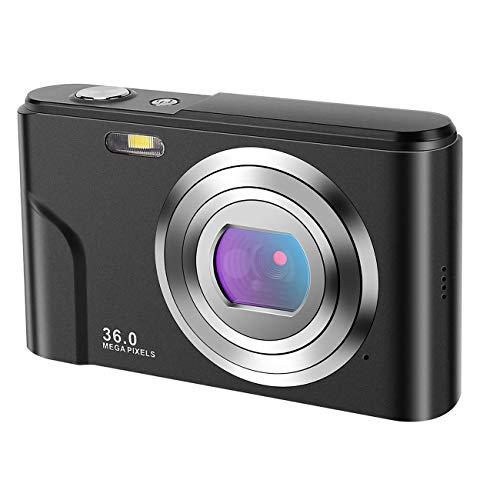 Cámara digital, 2.88 pulgadas IPS LCD (4:3) 44 megapíxeles cámara HD recargable Mini cámara estudiante cámara de bolsillo cámara digital con zoom 16X cámara compacta para fotografía principiante