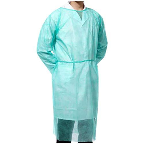 10/20/30/40 Stück Einweg-Schutzkittel, Regenponchos für Erwachsene, wasserdicht atmungsaktiv Anti-Fog Antipartikel (10 Stück)