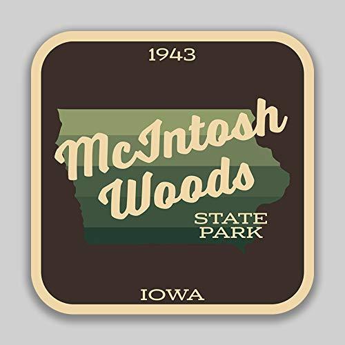 JMM Industries Mcintosh Woods State Park Iowa calcomanía segunda mano  Se entrega en toda España