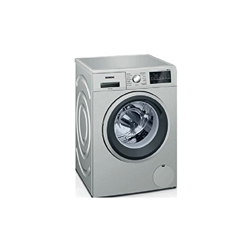 Siemens iQ500 WM14T46XES Independiente Carga frontal 9kg 1400RPM A+++ Acero inoxidable - Lavadora (Independiente, Carga frontal, Acero inoxidable, Giratorio, Tocar, Izquierda, LED)