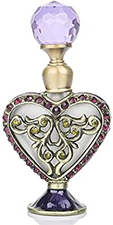 Victorian Heart Vintage Perfume Bottle Refillable Empty Enameled Crystal Ornament Handmade Home Decor Lady Wedding Christmas Gift