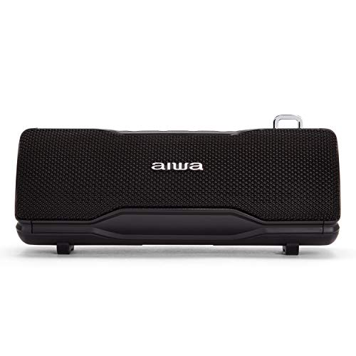 Aiwa BST-500BK: Stereo-Bluetooth-Lautsprecher, TWS, tragbar, Schwarz, geeignet für Android oder iPhone