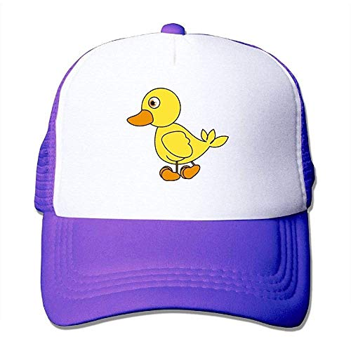 Hoswee Unisex Kappe/Baseballkappe, Men&Women Mesh Back Core Baseball Cap Cartoon of A Rubber Duck Snapback Hat