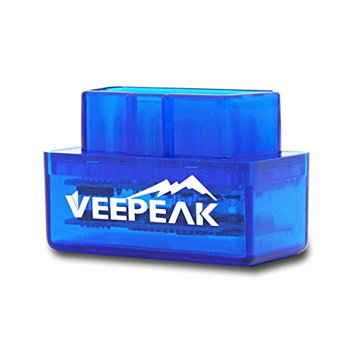 Veepeak - Herramienta mini para diagnóstico de vehículo, conexión mediante Bluetooth, escáner OBD2 para Android y Windows, lector de códigos de luces del motor, compatible con las aplicaciones Torque Pro, OBD Fusion, DashCommand, Car Scanner