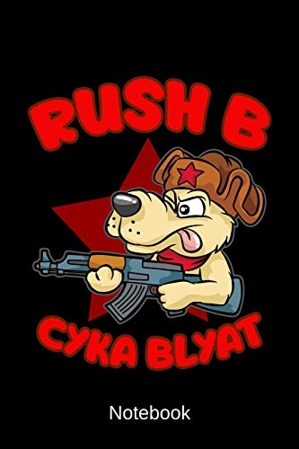 Notebook - Rush B Cyka Blyat: Personal Organizer For Gamer