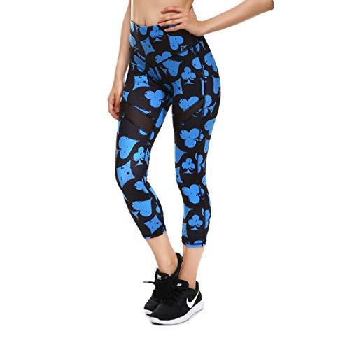 Mieuid Mujer Leggings De Cintura Chic Pantalones Estampado Friends Alta con De Lápiz Sport Fitness Slim Fit Pantalones De Chándal Elásticos Pantalones (Color : Poker, Size : XL)