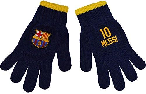 Fc Barcelone Gants Barça - Lionel Messi - Collection Officielle Taille Enfant garçon 6/8 Ans