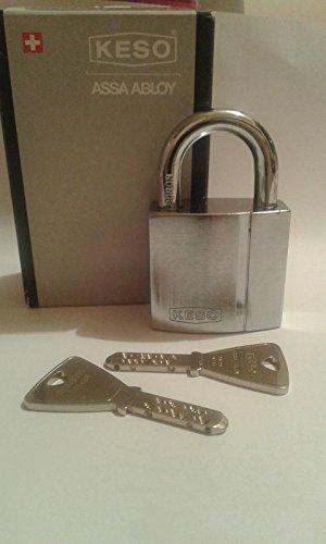 KESO(Assa Abloy) 22.043. Vorhängeschloss/ Keying Platform 2000S /2 Schlüssel/ Sicherungskarte