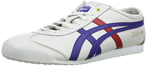 Onitsuka Tiger Mexico 66, Unisex-Erwachsene Low-Top Sneaker, Weiß (White/Dark Blue 152), 35.5 EU