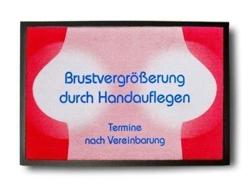 Pfiffig-Wohnen Die witzige Fußmatte - Brustvergrößerung durch Handauflegen