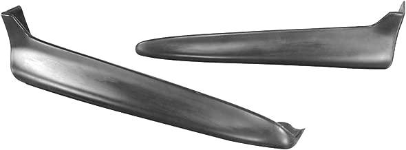 Rear Bumper Lip Compatible With 1999-2000 HONDA CIVIC 2 & 4 DOOR | Jdm 2pcs Style PU Black Rear Lip Spoiler Splitter by IKON MOTORSPORTS