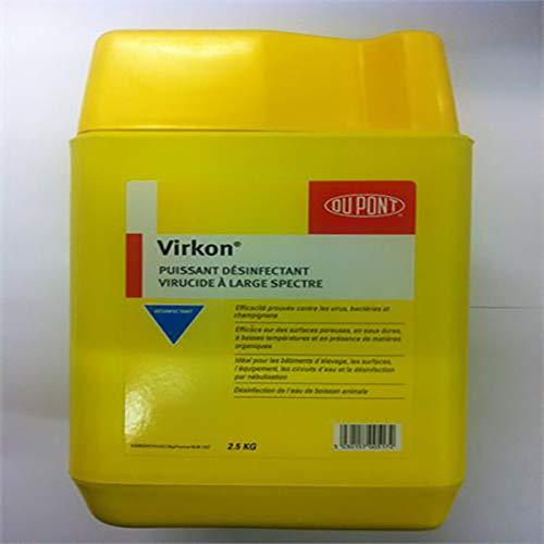 Huvepharma Virkon - Polvo desinfectante para Vivienda, Material de elevación y Transporte, 1 kg