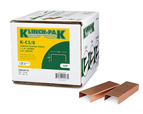 KlinchPak C-5/8 Carton Staple 1-1/4 inch Crown with 5/8 inch Leg 4000 per case - SIM CC58, C58 or JK561