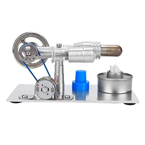 Motor Stirling, Mini Motor Stirling De Acero Inoxidable CNC En Forma De T Para Clases De Aprendizaje De Física/Mecánica Para Regalo De Cumpleaños