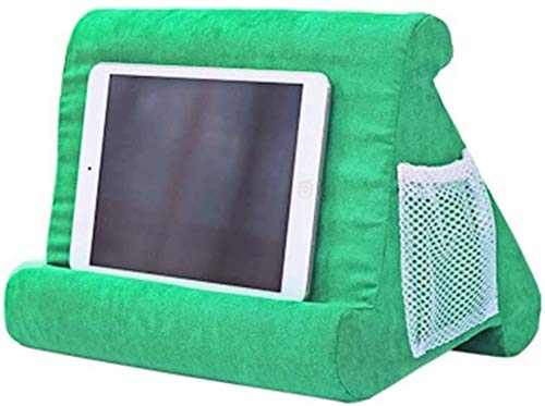 aycpg Pillow Stand Portable Triangle Tablet Pillow Stand Multi-Angle Laptop Pillow Holder Reading Pillow Soft Pillow Lap Stand Mobile holder for bed sofa- Gray (Color : Grass Green)