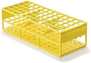 قفسه لوله آزمایشگاهی آزمایشگاهی برای آزمایش لوله های 17 میلی متر، زرد