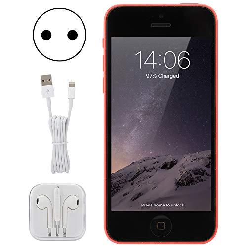 LYJL (Enchufe De La UE Refurbado para iPhone 5c 1510mah Batería De La Batería Dual Core 1 + 32g Rojo 100-240v