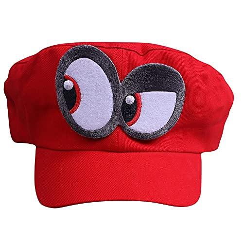 Super Mario Gorra Odyssey - Costume para Adultos y niños Carnaval y el Cosplay - Ojos a la Izquierda