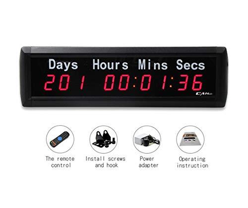 Led-countdown klok, met label-countdown tot dagen, aftellen of dagen evenement, timer voor World Cup, Kerstmis, bruiloft, speciaal evenement