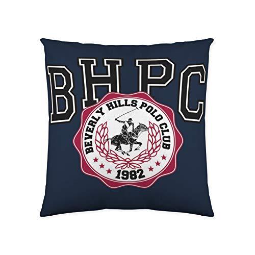 Beverly Hills Polo Club Shasta Funda de cojín, Algodón, Blanco, Azul, Sin Relleno