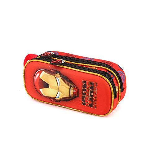 Karactermania Iron Man Armour-3D Double Pencil Case Federmäppchen, 22 cm, Rot (Red)