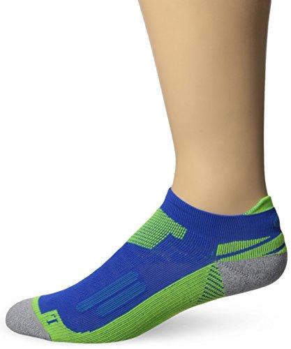 ASICS Nimbus Single Tab Running Socks, Air Force Blue/Safety Yellow, Large