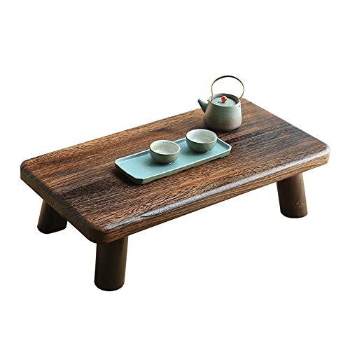 Lamyanran Mobili Rustico Tavolino Tavolo Quadrato casa Multi-Funzione Desktop Laptop Desk Tatami bay Windows Mobile Table (Color : Brown, Size : 65 * 36 * 18cm)