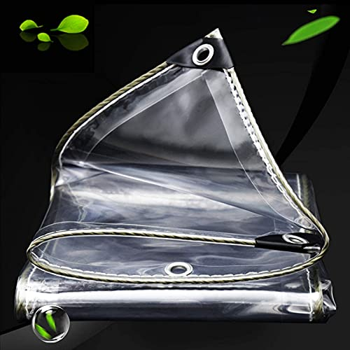 WLVG Telo Impermeabile Trasparente Resistente in plastica Trasparente in PVC Trasparente per Sole e Pioggia, Resistente agli Agenti atmosferici, Copertura per Tende da Esterno per pianta di gazeb