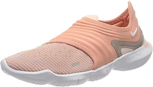 Nike Women's WMNS Free Rn Flyknit 3.0 Trail Running Shoes, Multicolour (Pink Quartz/White/Echo Pink 600), 4 UK