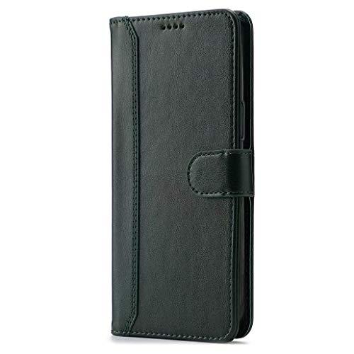 GOGME Hülle für Oppo Reno4 Pro 5G, Premium PU Leder Flip Schutzhülle Magnetic Snap mit [Kartenfächer] [Ständer Funktion] Hülle Cover Brieftasche Handyhülle, Grün