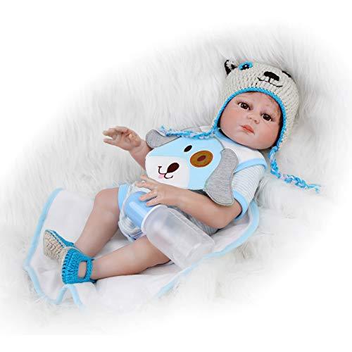 ZIYIUI 20 Pulgadas 50cm muñecas Reborn niña Silicona muñeca de niña recién Nacida Hecha a Mano de Cuerpo Juguete de Realista Magnético Juguete Niño Regalo Muñeca Reborn Dolls