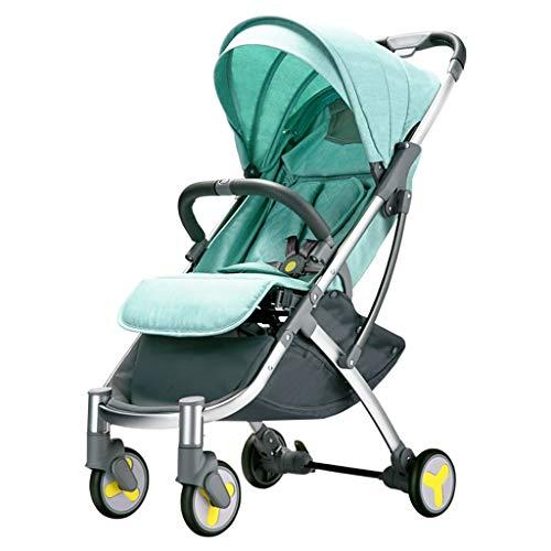 BLWX - Bébé Poussette léger Ultra léger Petit Pliage Simple Les Enfants Peuvent s'asseoir inclinable bébé Chariot Portable Poussette (Couleur : Green)