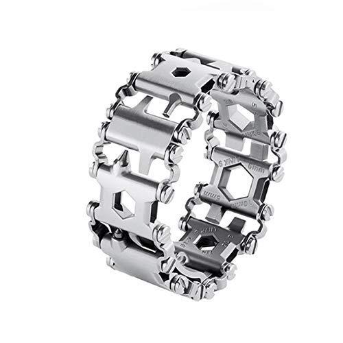 Fishyu Multifunktionsarmband Edelstahl tragbares Armband Schraubendreher Werkzeug für Segelreisen
