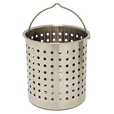 Bayou Classic B122, 122-Qt. Stainless Perforated Basket