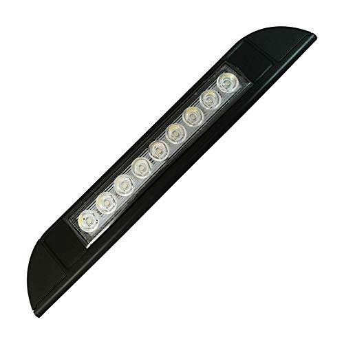 Fransande - Toldo de 9 ledes, 12 V, 24 V, impermeable, 256 mm, para exterior caravana, camping, autocaravana, color negro