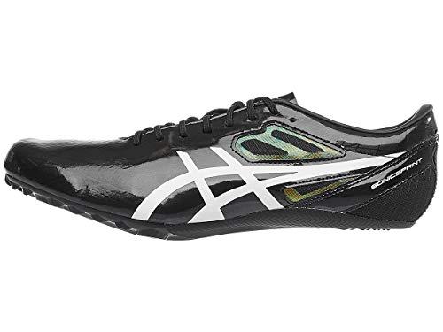 ASICS Unisex Sonicsprint Track & Field Shoes, 10W, Black/White