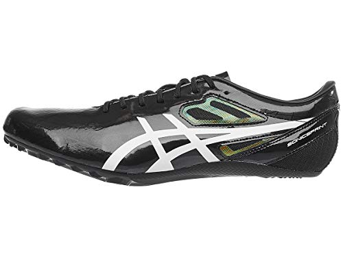ASICS Unisex Sonicsprint Track & Field Shoes, 10.5W, Black/White