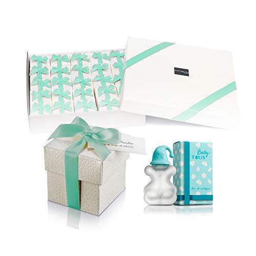 Pack 25 mini perfumes para bebé como detalles de boda o bautizo para invitados Tous Baby a dormir Eau de cologne 4,5 ml. original para baby shower