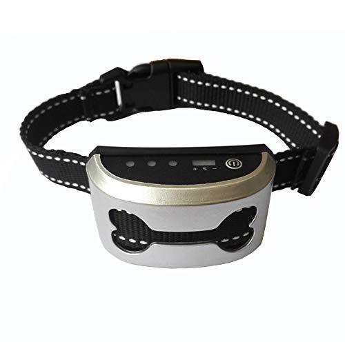WANG Collar Grande para Perros Collar De Entrenamiento con Control Remoto - Collar De Choque para Perros Rango De 2500 Pies Control De Vibración Collar Electrónico De Corteza Recargable,Gold