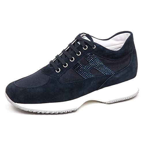 Hogan F2672 Sneaker Donna Dark Blu Interactive Scarpe H Strass Shoe Woman [40]