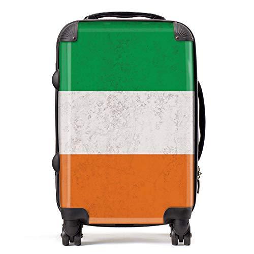 Ierland/Ierse vlag cabine Carry-On koffer met TSA Lock 4 Spinner Wheels Bagage Bag 58cm 52Ltr / Noord-Europese vlaggen