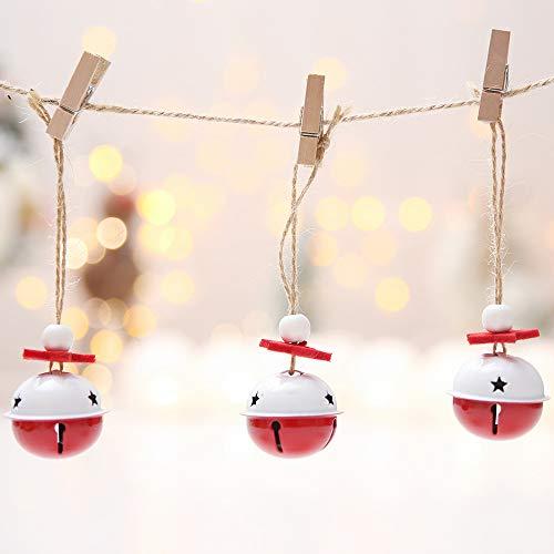 Tomkity 20pz Campanellini di Natale in Metallo Ornamenti Accessori Decorazione Albero di Natale DIY Gioielli Art Craft Matrimonio Natale Compleanno