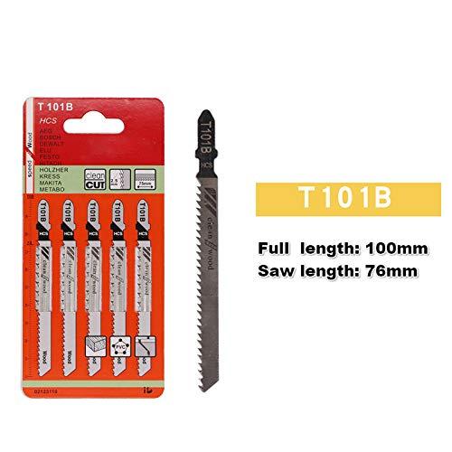 5PCS Jigsaw Blades Wood Cutter Saw Blade Bosch Dewalt Hitachi Makita Festool 5pcs T101B