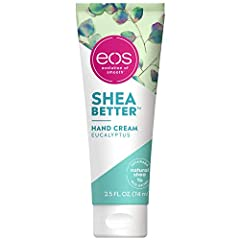Our Shea Better Hand Cream delivers the immediate moisture of Shea Oil + lasting protection of Shea Butter to absorb quickly for 24-hour hydration that works through hand-washing. Fast-absorbing & non-greasy. Deeply hydrates and seals in moisture Euc...
