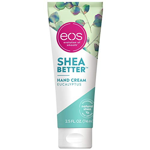 eos Shea Better Hand Cream  Eucalyptus |24 Hour Hydration that Lasts through Handwashing | FastAbsorbing amp NonGreasy | 25 oz